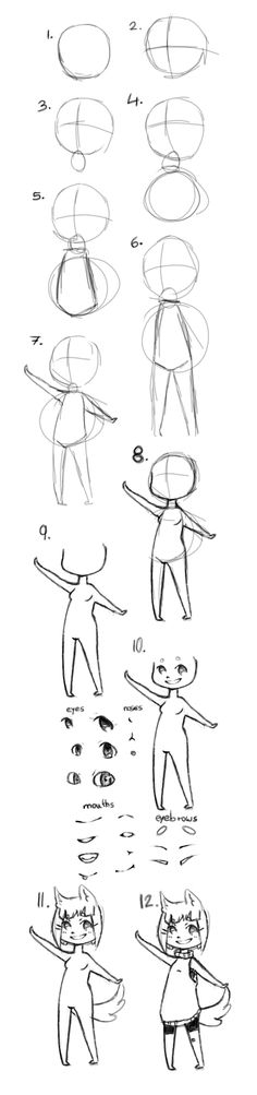 chibi tutorial by IokoThePanda.deviantart.com on @deviantART