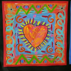 My ALL TIME FAVORITE artist to teach is... PETER MAX! I love his painterly style... I am a painter myself, and just love his quick blendy...