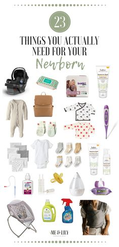 23 Things You Actually Need for Your Newborn: This post lists everything your new baby needs in the first few weeks. All the new baby essentials and newborn must haves! #newbaby #musthaves #motherhood #newmother #baby