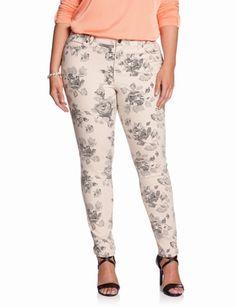 Plus Size Printed Jeans - Xtellar Jeans