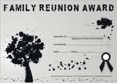 free family reunion certificates templates - Free Family Reunion Certificates Templates