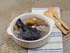 Chinese Herbs (Ching Bo Leung) Black chicken Soup