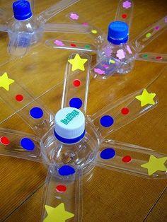 ペットボトルの工作 | 猫娘のホノホノetc... - 楽天ブログ Plastic Bottle Crafts, Plastic Bottles, Sensory Activities, Activities For Kids, Diy And Crafts, Crafts For Kids, Library Art, Pet Bottle, Diy Stuffed Animals