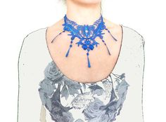 Hey, I found this really awesome Etsy listing at https://www.etsy.com/listing/120861662/lace-necklace-choker-bib-necklace-hand