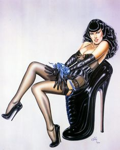 Olivia de Berardinis has created a stunning portfolio of technically brilliant, highly imaginative and erotic pin-up art over a period spanning more than 30 years.