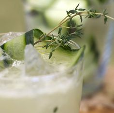 Margarita Thyme: Give everyone's favorite fiesta cocktail a garden-fresh twist with a sprig of thyme and cucumber slices. [Sponsored by BACARDI® Mixers]