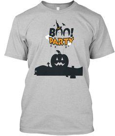 c2d389d6b40 Halloween T Shirts And Hoodies Light Heather Grey T-Shirt Front Halloween  Celebration, Party