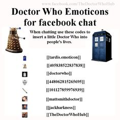Doctor Who emoticons on facebook chat
