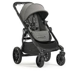 The all-terrain 2017 City Select LUX Stroller by Baby Jogger boasts a premium single-to-double convertible design that's perfect for growing, active families. Now folds 30% smaller and comes with all-wheel suspension plus a decelerating hand brake.