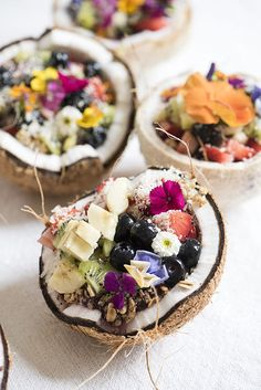 Coconut fruit salad bowls