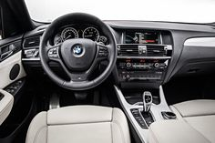 2016 BMW X4 dashboard: The quality of the materials used in the cabin is great.