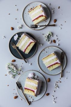 glutenfree rhubarb-rasperry cake & a moodboard for farrow & ball