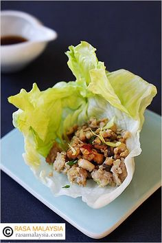 Chinese Lettuce Wraps, so refreshing, healthy and light. This is better than your regular PF Chang's lettuce wraps.