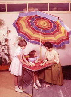 1965, Dr. Oetker Werbefoto mit Frau Renate, Eis aus Eispulver