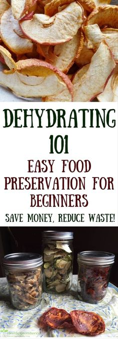 Food 101 ~ Preservation for Novices Dehydrating food is easy, economical, and lets you enjoy the bounties of your summer garden all year round! Never tried dehydrating food before Heres what you need to know to get started. Healthy Snacks, Healthy Eating, Healthy Recipes, Dehydrated Food Recipes, Healthy Tips, Food 101, Food Food, Cooking Food, Dehydrator Recipes