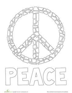 Peace Sign Coloring Pages Flower Power Coloring Page