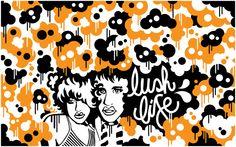'Lush Life' Attik Clothing store, Sydney - Sharon Campbell Art Print / Illustration www.cargocollective.com/sharoncampbell My Works, Lush, Sydney, Art Prints, Store, Illustration, Artwork, Clothing, Fictional Characters