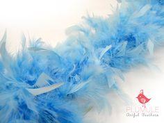 TURKEY BOA - Baby Blue, 2 yards, altered couture, millinery, headdress, headband, hair clips, children dress up, home decor. $7.95, via Etsy.