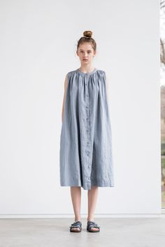 Heavy weight linen sleeveless summer dress / linen tunic by notPERFECTLINEN on Etsy https://www.etsy.com/listing/271585866/heavy-weight-linen-sleeveless-summer