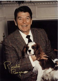 Ron & Rex | White House Photograph 1987 #CavalierKingCharlesSpaniel