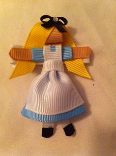 Dorothy themed hair clip by Babydobows on Etsy, $2.25