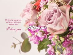 My love grows and grows with each passing year. I love you Happy Birthday Dear, I Love You, My Love, Rose, Flowers, Plants, Cards, Wedding, Beautiful