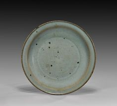 """SONG/JIN DYNASTY JUNYAO GLAZED DISH Finely potted, Chinese Song/Jin Dynasty Junyao glazed dish; with flattened rim, showing good even color to both sides; D: 7 3/8"""""""