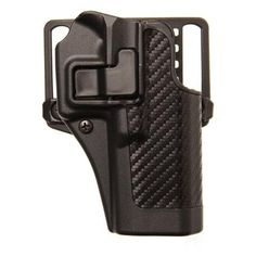 BlackHawk CQC SERPA Holster With Belt and Paddle Attachment, Fits Glock 17/22/31, Left Hand, Carbon Fiber, Black - Endless Box - 2