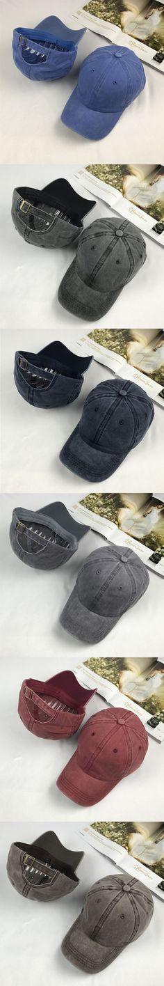 2017 New Fashion USA Women Men Cotton Cap Baseball Caps Hat Adjustable Polo Style Washed Plain Solid Visor Summer Hot