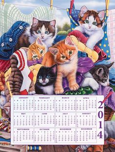 """Loads of Kittens 500 pc Calendar Pz 