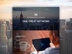 Website design for a affiliate network company. by Sasha Turischev