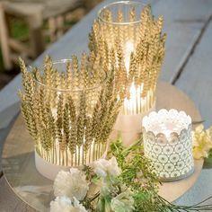 Des photophores un brin champêtre / diy mariage champetre / countryside wedding diy