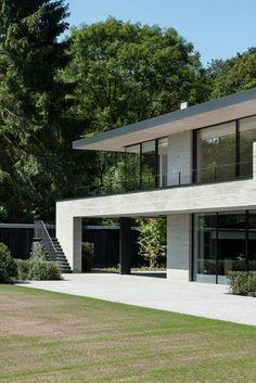 Facade Design, Exterior Design, Contemporary Architecture, Interior Architecture, Concrete Houses, Facade House, Modern Exterior, Architect Design, Modern House Design