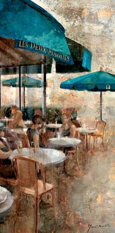 Terraza CafE Les Deux Magots by  Noemi Martin
