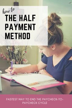 How to guide: The half payment method – Finance tips, saving money, budgeting planner Budgeting Finances, Budgeting Tips, Making A Budget, Making Ideas, Ways To Save Money, Money Saving Tips, Money Tips, Money Hacks, Budget Spreadsheet