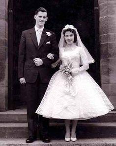 newlyweds Maureen and George - Vintage Brides Wedding Attire, Wedding Bride, Wedding Gowns, Church Wedding, Lace Wedding, Vintage Wedding Photos, Vintage Bridal, Vintage Weddings, 1960s Wedding