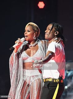 News Photo : Mary J. Blige and ASAP Rocky perform onstage at...