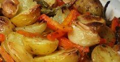 Ingredientes Batatas-bolinha com a casca Vagens Cenoura