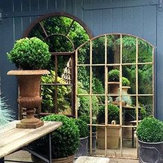 Aldgate Home are based in the South East of the UK and they specialise in Antiques, Mirrors, Metalwork, Reclamation & Salvage. Garden Oasis, Garden Nook, Garden Wall Art, Garden Spaces, Home And Garden, Outdoor Mirrors Garden, Garden Mirrors, Back Gardens, Small Gardens