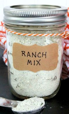 Ranch Seasoning Mix ~ Easy homemade ranch seasoning mix. Chemical & gluten-free.