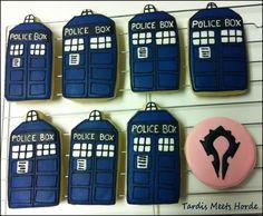 Doctor Who Tardis Cookies