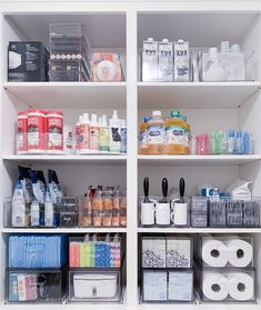 Medicine Cabinet Organization, Home Office Organization, Bathroom Organization, Storage Organization, Cleaning Cupboard Organisation, Organizing Tips, Organising, Armoire Makeover, The Home Edit
