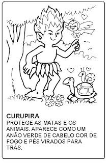 Curupira: FOLCLORE Folklore, Mythology, Coloring Pages, Teaching, How To Plan, Education, Comics, Fictional Characters, 230