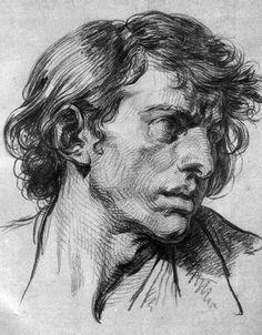 Jean-Baptiste Greuze - Testa maschile