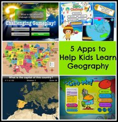 Educational games can be a fun way to practice map skills. Here are 5 map apps to help children learn geography and discover the world while playing. Geography Games For Kids, World Geography Games, Teaching Geography, Geography Quotes, Geography Revision, Geography Classroom, Geography Lessons, Learning Maps, Fun Learning