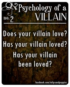 Psychology of a Villain - No. 2