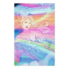 Rainbow Angel Stationery Design