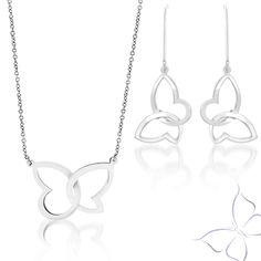 We are having 25% off The Flutter Set online & in-store from Black Friday until Cyber Monday.🛍 Getting To Know You, Cyber Monday, Black Friday, Butterfly, Pendants, Store, Unique, Silver
