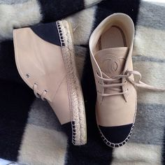chanel espadrille booties? YES please!