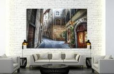 beautiful narrow street in Florence, Italy Ready to Hang Canvas Print